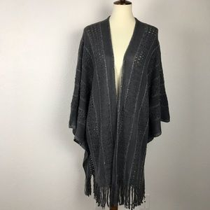 BCBG Max Azria Metallic Trim Stripe Sweater SW154